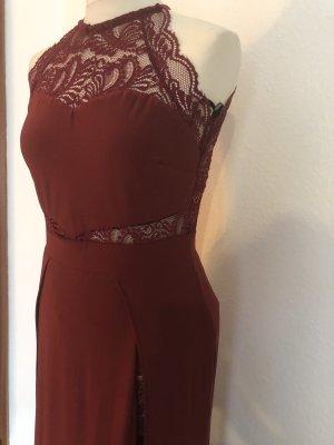 Kleid dress spitze neu Bordeaux rot Blogger Style