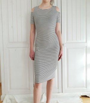 Kleid Dress Streifen schwarz weiß pimkie M sommkleid sommer rock Midikleid Rock midirock tunika Tubedress