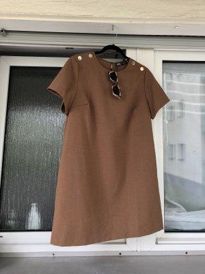 Kleid dress Zara neu Sommerkleid braun beige