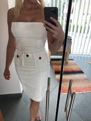Dsquared2 Sukienka z gorsetem biały