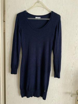 AJC Robe pull bleu acier viscose