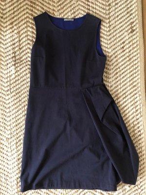 COS Sukienka z rękawem balonowym ciemnoniebieski