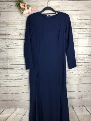Kleid Dunkelblau Schlicht Abendkleid Maxi