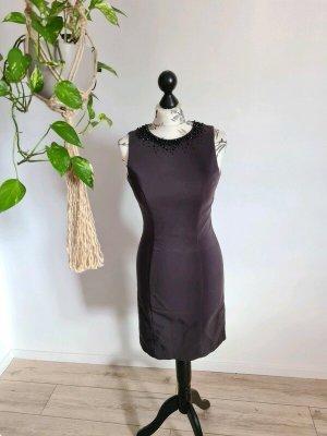Kleid, dunkelgrau, dekorative Steine am Kragen, H&M, S