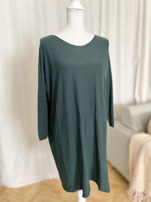 T-shirt jurk donkergroen