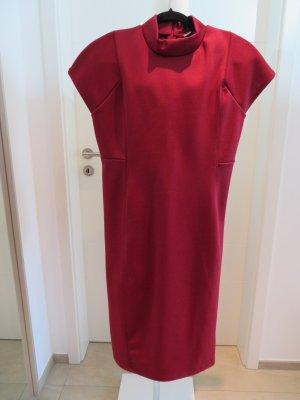 Kleid dunkelrot burgund Zara Etuikleid rot xl