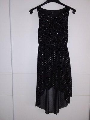 Amisu Chiffon jurk zwart-zilver