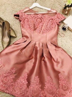 Chi Chi London Lace Dress dusky pink polyester
