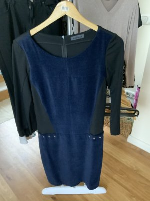 Airfield Stretch Dress dark blue viscose