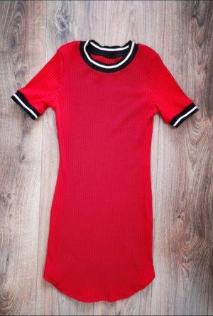 Vestido de tela de sudadera rojo
