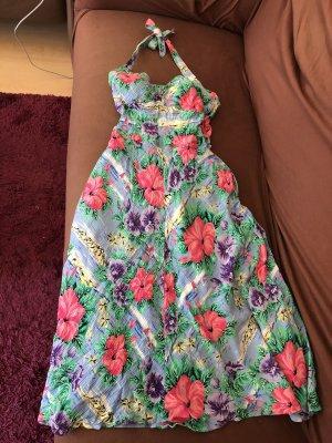 Elkont Sukienka z dekoltem typu halter Wielokolorowy Wiskoza