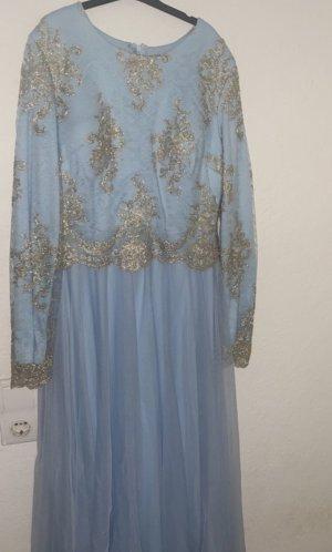 Ball Dress light blue-gold-colored