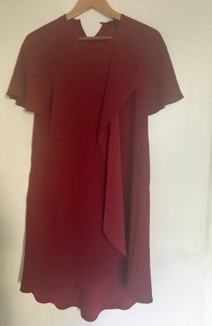 BCBGMAXAZRIA Letnia sukienka bordo Tkanina z mieszanych włókien