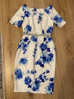 Paper Dolls Robe mi-longue blanc-bleu