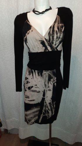 Patricia Dini Vestido cut out negro-crema