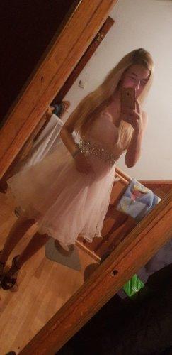 Vestido de baile rosa claro