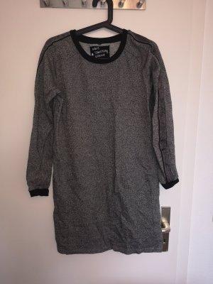 Aldi Sweater Dress black-silver-colored