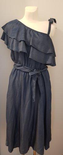 edc Robe asymétrique bleu acier