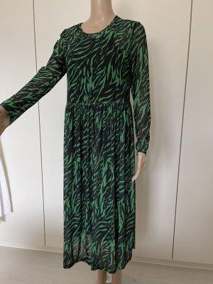 Made in Italy Maxi abito nero-verde bosco