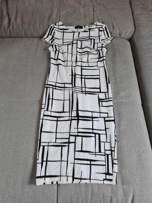 Kleid, eng, weiß/schwarz, New Look, 38