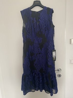 Kleid Escada Original Neu! Seide  Gr.38 / S / M mit Etikett Schwarz Transparent