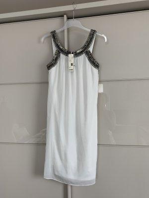 Kleid Esprit weiß Pailetten 34 Greek-Style