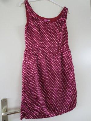 Kleid Etui leicht Punktemuster