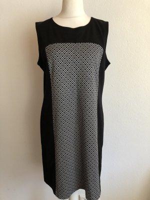 Kleid Etuikleid Elegant schwarz weiß gemustert Gr. 44