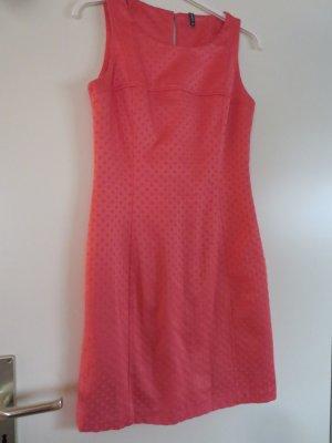 Kleid Etuikleid flamingo Punkte Schimmer