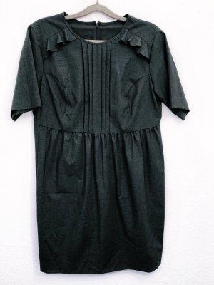 Kleid Etuikleid Minikleid Minikleid Partykleid Cocktailkleid Rüschen grau Größe M L Damen Neu 90€
