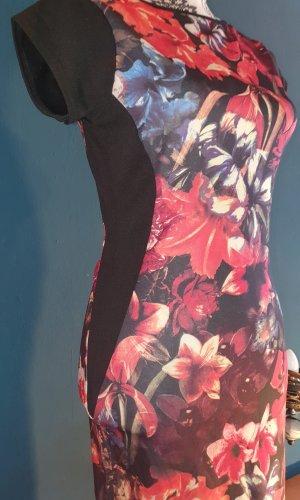 Kleid Etuikleid Stiefel-Kleid Blumen Gr:38