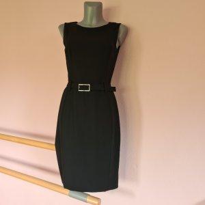 Hugo Boss Sukienka etui czarny-srebrny