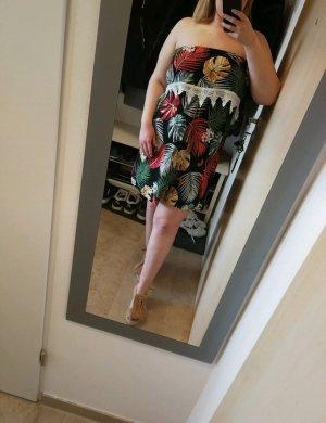 Kleid Exotic Schulterfrei Gr. L XL