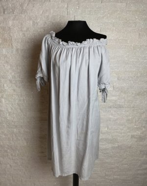 Sukienka typu babydoll jasnoszary