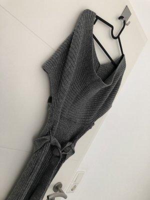 Sukienka dresowa szary-ciemnoszary