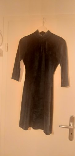 Vestido de tela de sudadera multicolor tejido mezclado