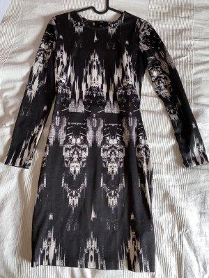 H&M Robe découpée blanc-noir