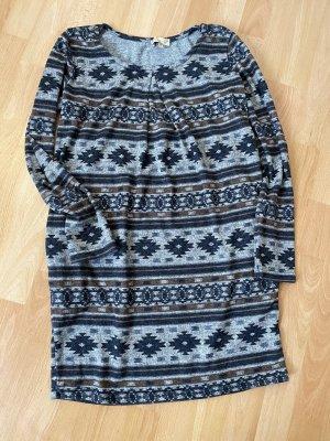 ambra Gebreide jurk grijs-donkerbruin