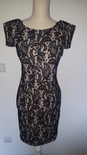 Topshop Evening Dress black-natural white