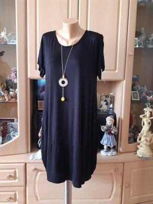 Made in Italy Sukienka z rękawem balonowym czarny Bawełna
