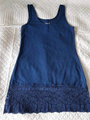 Be only Off the shoulder jurk blauw