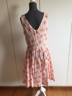 Caroll Pinafore dress white-bright red