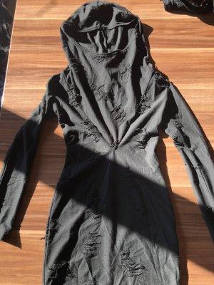 H&M Vestido con capucha negro