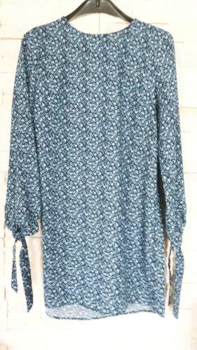 H&M Sukienka z długim rękawem jasnoniebieski-ciemnoniebieski