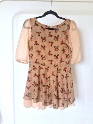 Kleid FD bambi reh snowflakes dress cute kawaii gyaru lolita brown