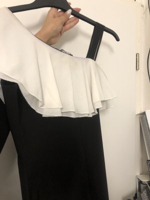 One Shoulder Dress white-black