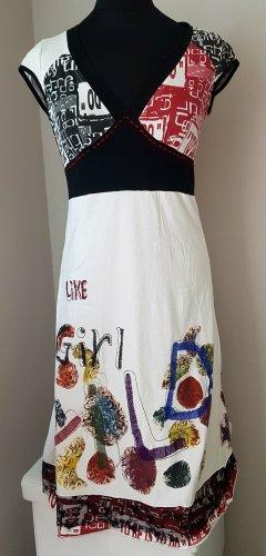 0039 Italy Robe mi-longue multicolore