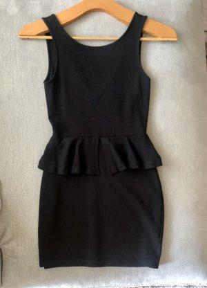 Zara Trafaluc Vestito peplo nero