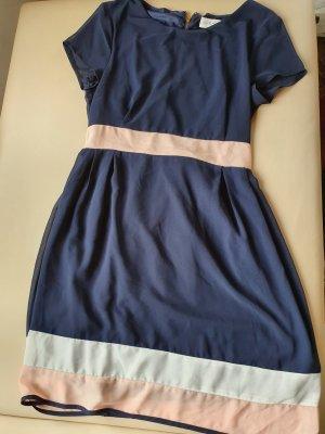 Apricot Evening Dress apricot-dark blue