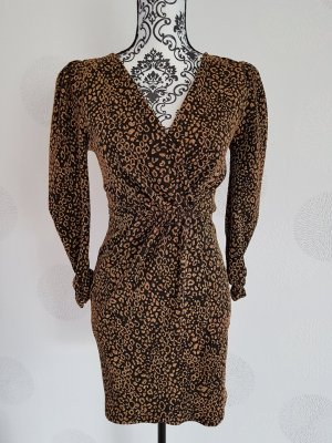 Zara Longsleeve Dress black-gold-colored